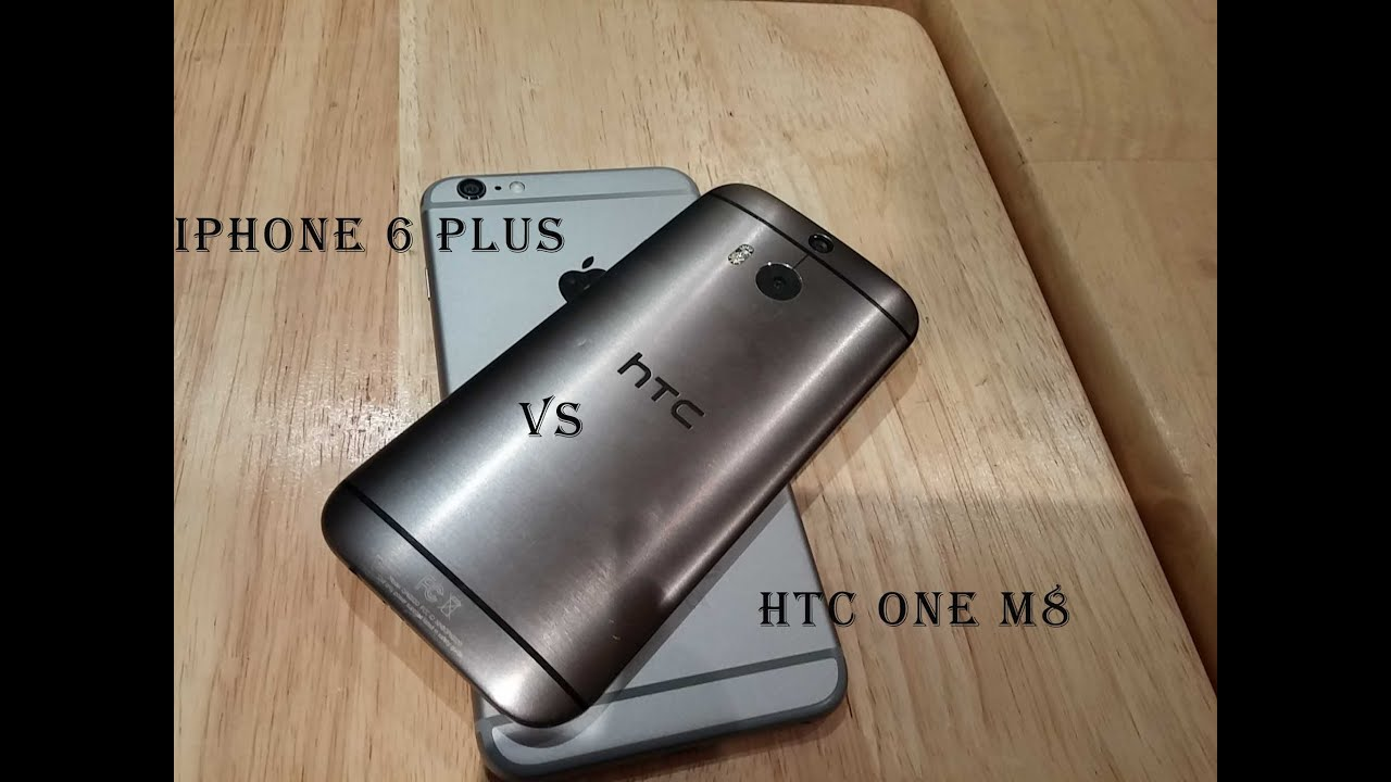 HTC ONE M8 SIZE VS IPHONE 6 PLUS