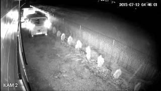 Kamera HDCVI w nocy.
