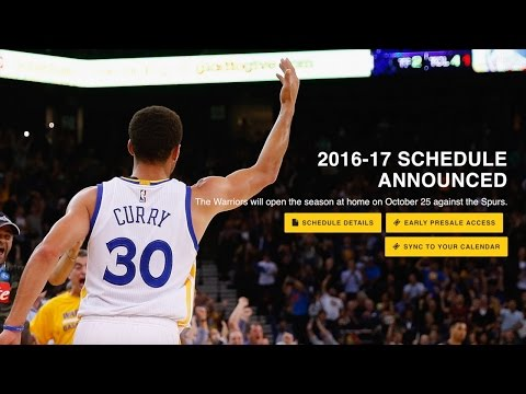 Warriors 2016-17 Schedule Highlights