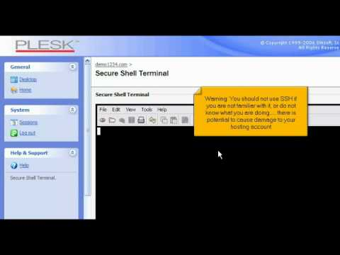 How to use an SSH terminal in Plesk
