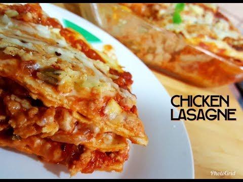 Chicken Lasagne Recipe - In 3 Easy Steps- Homemade Lasagne Recipe