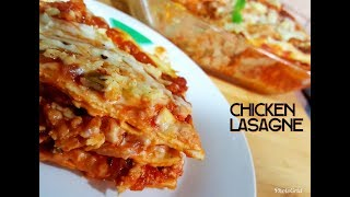 Chicken Lasagne Recipe - In 3 Easy Steps- Homemade Lasagne Recipe