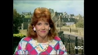 HTV West region adverts, trailer, Annie Mckie in vision x 2 6th July 1986