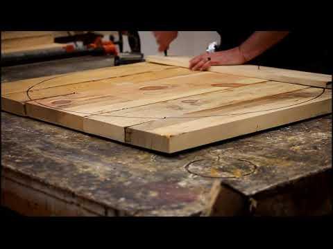 DIY Log worx  Custom Log wood table - woodworking shop handmade woodworker time lapse