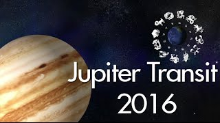 jupiter transit Jupiter will be transiting through the 12 zodiacs in 2017 and this will play a major role as to how the said planets will fare in the year the planet is labeled to have a benefic results on the sign and influence them in a positive way, but in some specific cases it can also create hassle and hurdles in one's path to success.