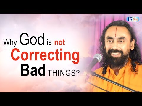 Why does not God correct the bad around the world? [Q/A with Swami Mukundananda]