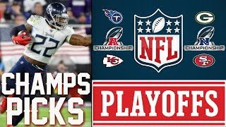 NFL CONFERENCE CHAMPIONSHIP PICKS | NFL PLAYOFF PICKS 2020 | Titans vs Chiefs | Packers vs 49ers