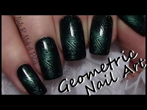 Magnetic nail polish stamping nail art easy geometric nail magnetic nail polish stamping nail art easy geometric nail design tutorial magnet nails prinsesfo Choice Image