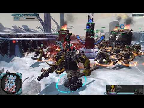 Orks (Goffs Clan) vs Tyranids (Hive Fleet Leviathan) - DOW 2: Retribution - SupaEpicFun Mod