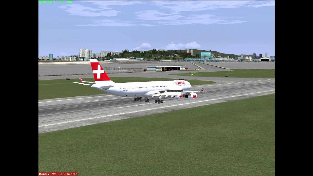 [FSX] Wilco A340-300 Merge Thomas Ruth LANDING TEST