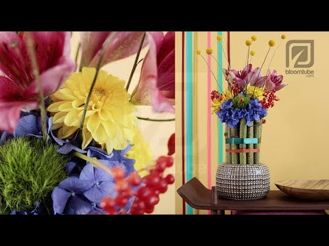modern floral design tutorial with autumn flowers thumbnail
