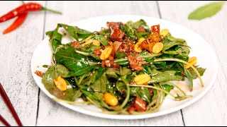 Салат из ОДУВАНЧИКОВ | Очень Вкусный ВИТАМИННЫЙ Салат | Полезный салат с Рукколой