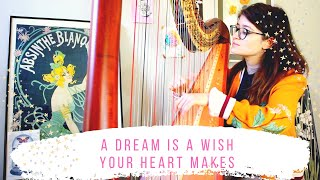 A Dream Is A Wish Your Heart Makes - Harp Cover - Cinderella - Sam MacAdam