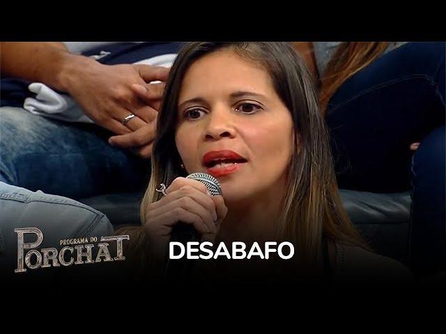 Participante da plateia do Porchat fala sobre agressões que sofreu do ex-marido