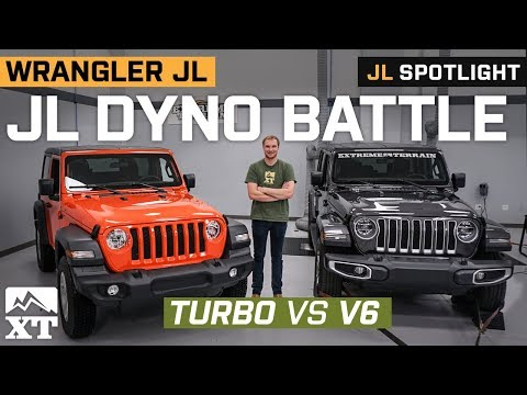 Dyno Battle | Jeep JL Turbo vs JL V6  | Which JL Makes The Most Horsepower?