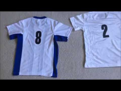 DIY Sports Soccer Jersey with numbers Dritz Iron on transfer