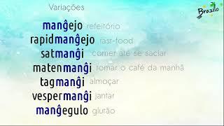 MANĜI verbo em Esperanto