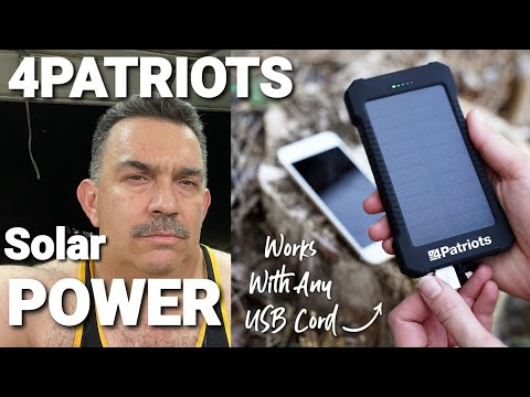 Patriot Power Cell: Solar Phone Charger #Solar #Battery #Prepared
