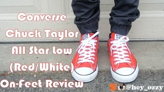 Converse Chuck Taylor All Star Low (Red/White) On-Feet Review (@hey_ozzy on Instagram)