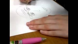 Рисуем лицо человека #дляначинающих