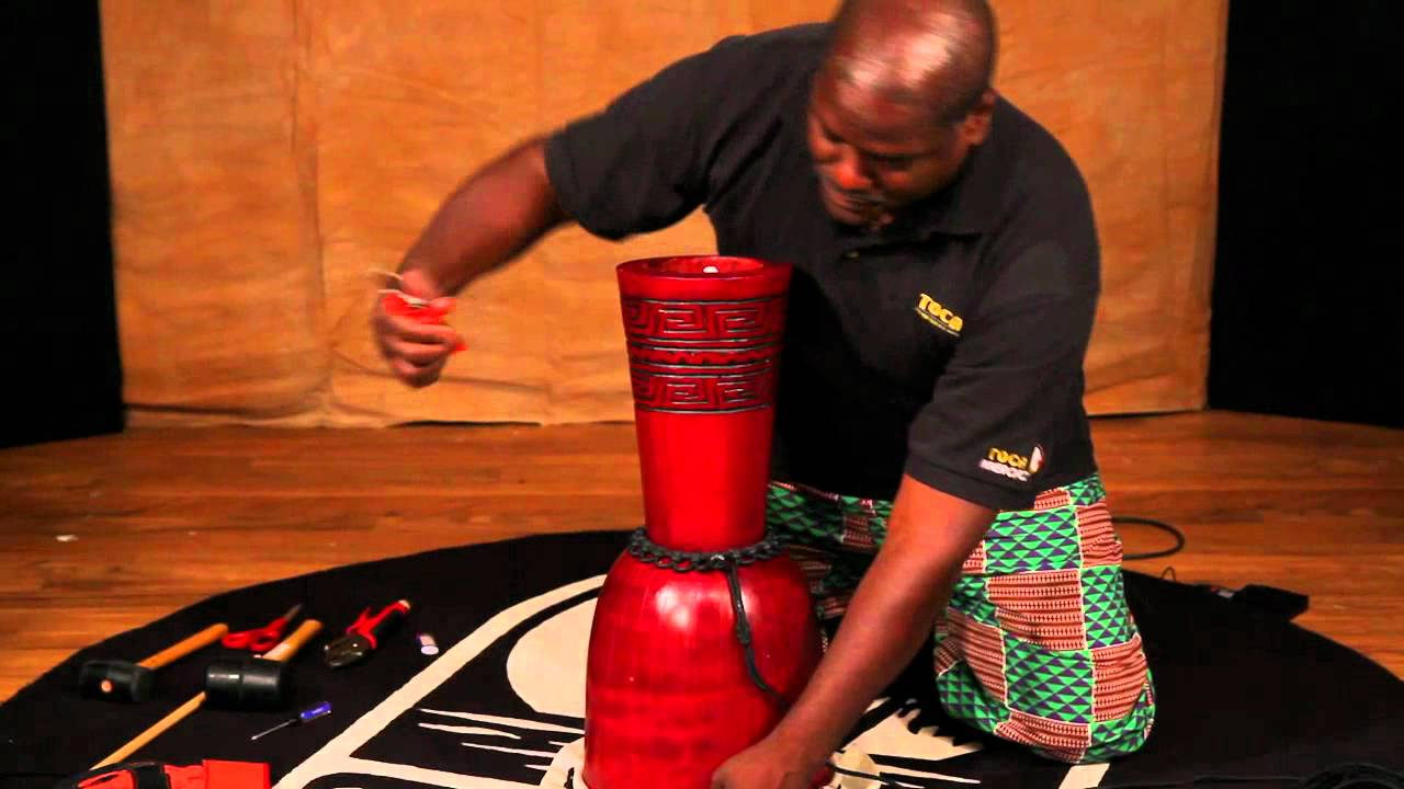 hight resolution of michael wimberly djembe head replacement tutorial