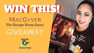 MacGuyver Escape Room Game Unboxing and Giveaway