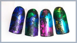 Популярный маникюр 2017 | Дизайн ногтей для начинающих | Кракеллюр, фольга под матовым топом(Набор цветной фольги я заказывала тут - http://ali.pub/nl0zo Матовый топ тут - http://ali.pub/mvaw0 Витражные гель-лаки можно..., 2017-01-18T09:32:26.000Z)