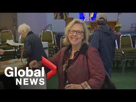 Canada Election: Green Party Leader Elizabeth May Heads To The Polls