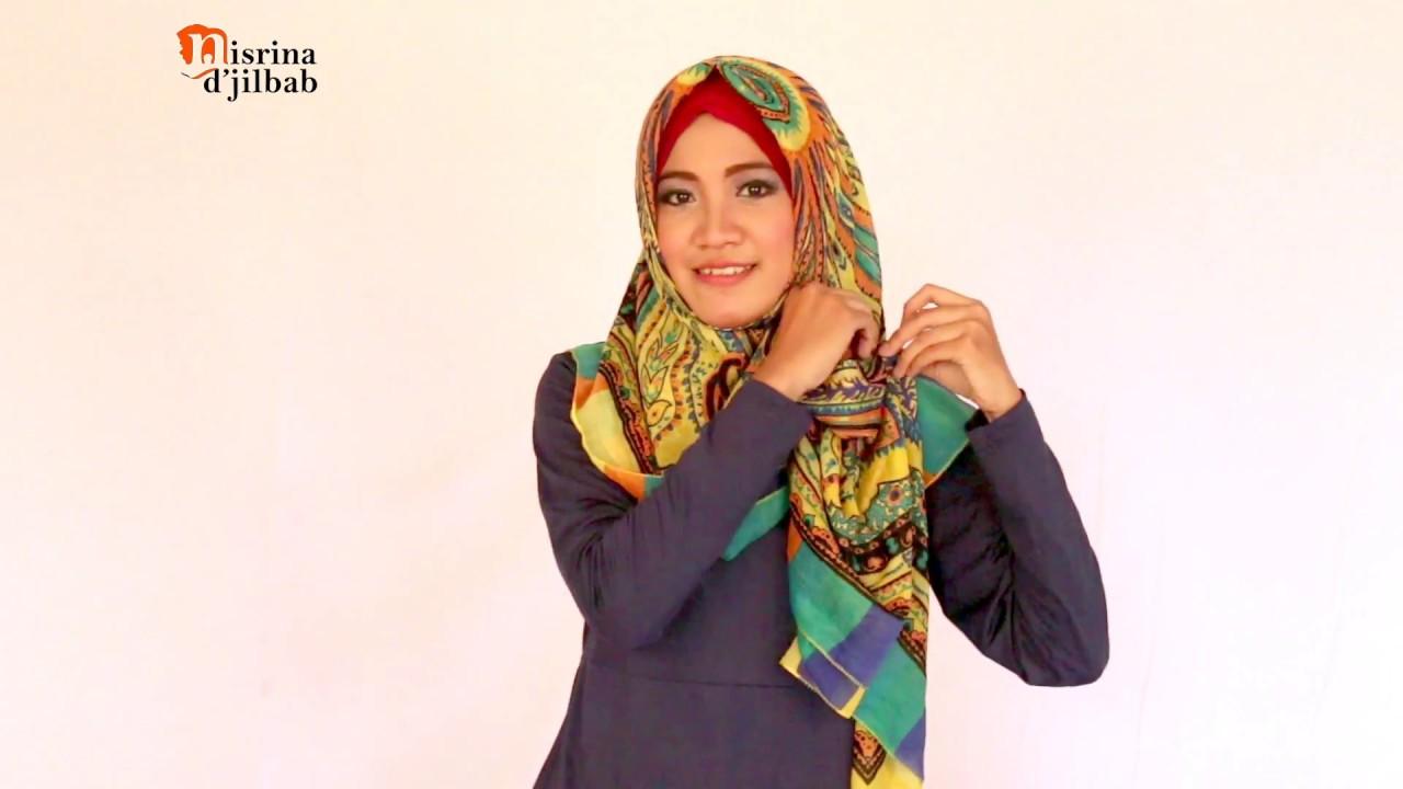 Tutorial Hijab Segi Empat Simple Kurang 1 Menit Youtube 2