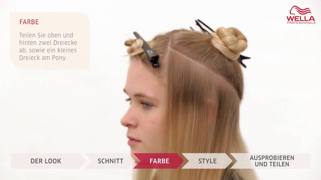 ОКрашивание волос WellA, блонд - YouTube
