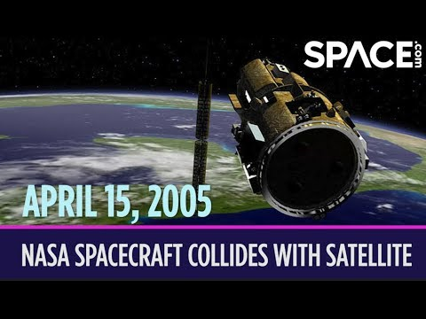 OTD in Space – April 15: NASA Spacecraft Collides with Satellite