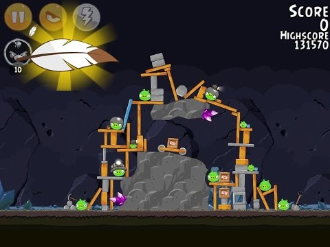 Angry Birds Flock Favorites 29-7 100% Feather Mighty Eagle Walkthrough