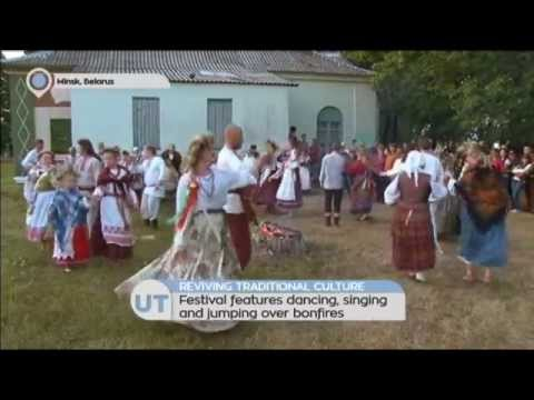 Belarus Revives Traditional Culture: Festival features dancing, singing and jumping over bonfires