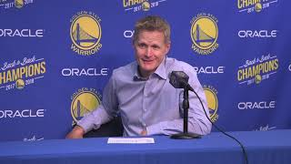 Steve Kerr makes joke about Omri Casspi's shot selection with Warriors