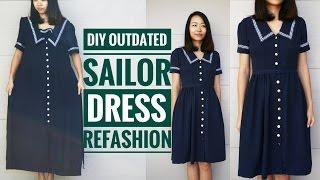DIY: OUTDATED SAILOR DRESS REFASHION