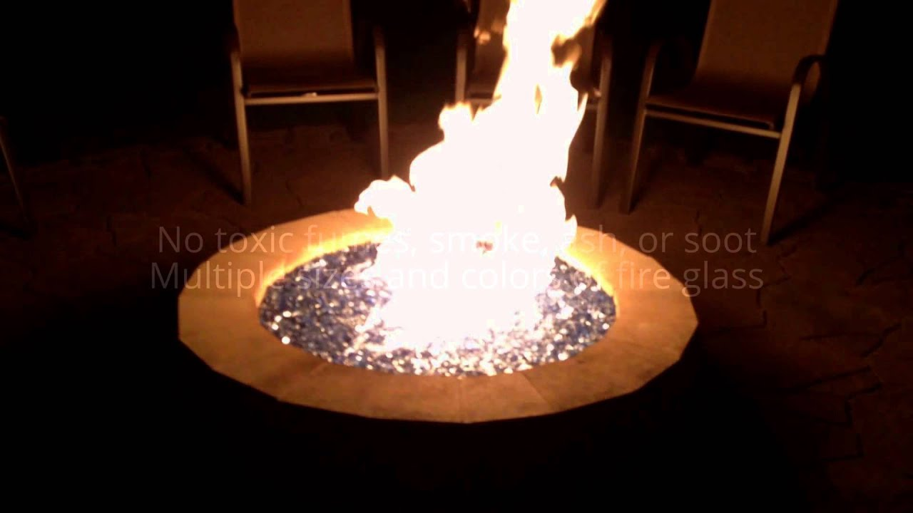 why using fire glass in your fire pit is a great idea youtube