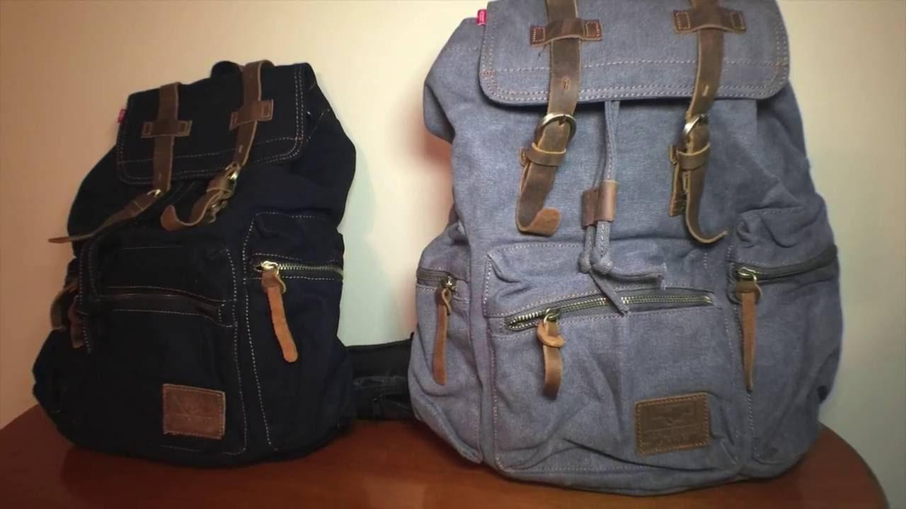 nuovo stile nuovo stile di vita arte squisita Zaino vintage per scuola o trekking di EcoCity con ...