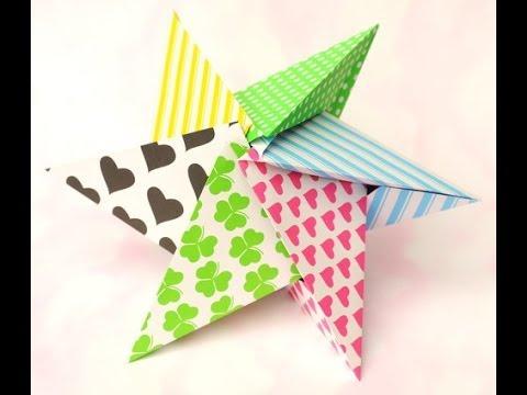 Origami estrella como hacer una estrella para navidad - Como hacer estrellas de navidad ...