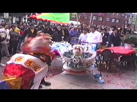 Lung Ying Lion Dance in Cardiff, UK (1996)