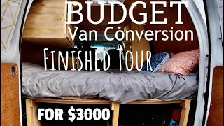 Budget Van Conversion Fİnished Tour | Ford Econoline $3000