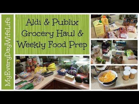 Aldi & Publix Grocery Haul & Food Prep || Clean Eating For Life