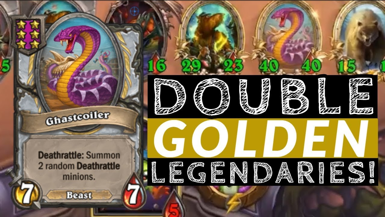 DOUBLE GOLDEN LEGENDARIES! - Hearthstone Battlegrounds