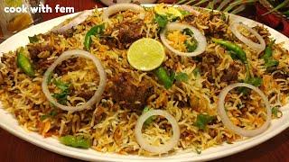Mutton Tikka Biryani - Bakrid Special Mutton Biryani/Simple & Easy Biryani Recipe With English Subs