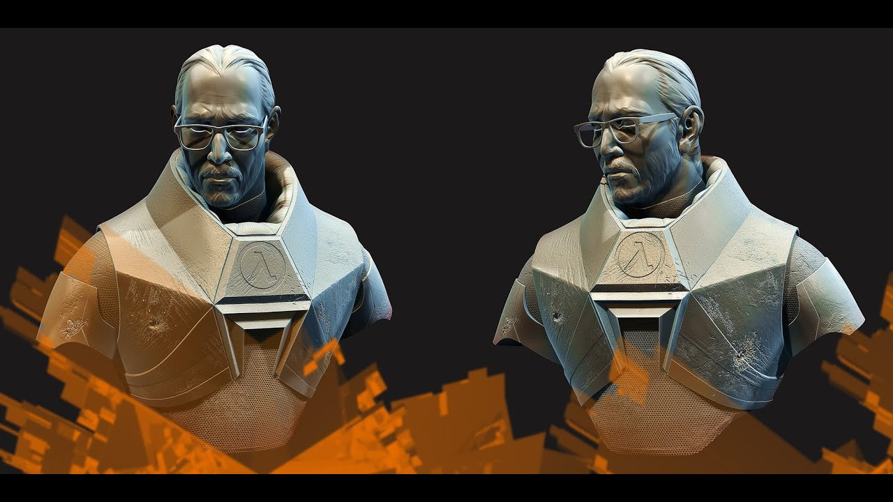 Gordon Freeman Fan Art Zbrush Sculpting Youtube