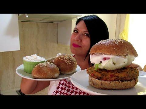 Pan integral hamburguesas de verduras silvana cocina - Hamburguesa de verduras ...