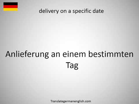 How to say delivery of the property in German?
