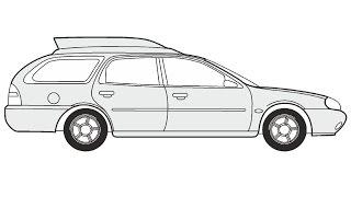 How to Draw a Ford Mondeo Turnier / Как нарисовать Ford Mondeo Turnier