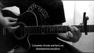 So Blue Chords by Akon - How To Play - chordsworld.com