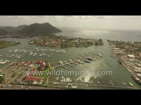 St. Lucia yacht harbour - the Caribbean high life