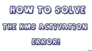 Microsoft Office KMS Activation Error(Simple Solution!)(, 2014-08-29T18:02:03.000Z)